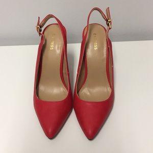 Express Red Slingback Heels
